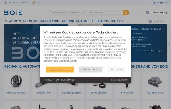 Vorschau von www.boie.de, Boie GmbH