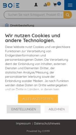 Vorschau der mobilen Webseite www.boie.de, Boie GmbH