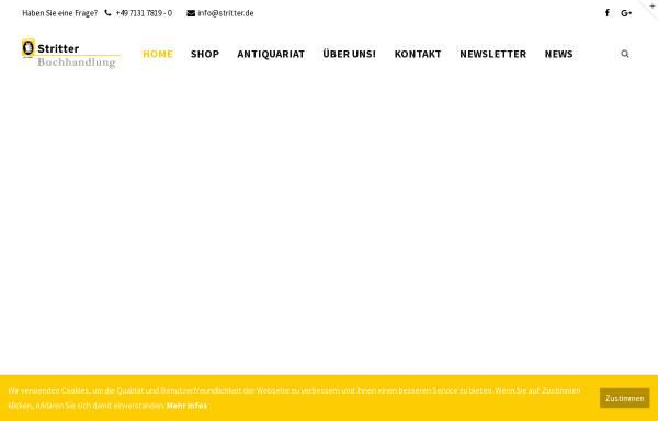 Vorschau von www.stritter.de, Buchhandlung Stritter GmbH