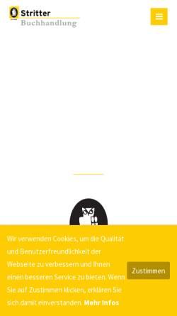 Vorschau der mobilen Webseite www.stritter.de, Buchhandlung Stritter GmbH