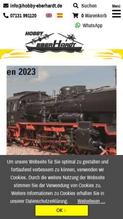 Vorschau der mobilen Webseite www.hobby-eberhardt.de, Hobby Eberhard