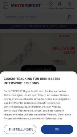 Vorschau der mobilen Webseite www.intersport.de, Intersport Deutschland e.G.