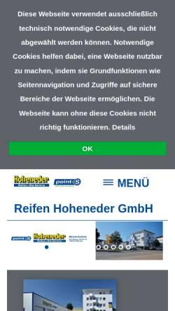 Vorschau der mobilen Webseite www.reifen-hoheneder.de, Reifen Hoheneder