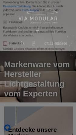 Vorschau der mobilen Webseite www.via-modular.de, Via-Modular