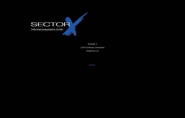 Vorschau von www.sector-x.de, Sector-X Informationssysteme GmbH