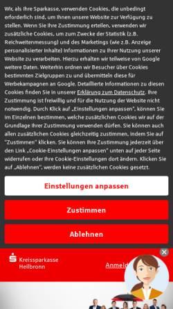 Vorschau der mobilen Webseite www.sparkasse-heilbronn.de, Kreissparkasse Heilbronn