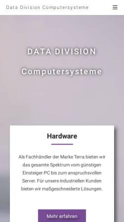 Vorschau der mobilen Webseite www.datadivision.de, Data Division Computersysteme Hannover