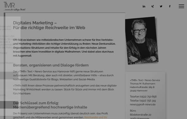 Vorschau von www.profi-news.de, »TMR« Text + News-Service