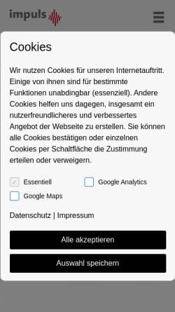 Vorschau der mobilen Webseite www.werbeagentur-impuls.de, Impuls Werbeagentur GmbH