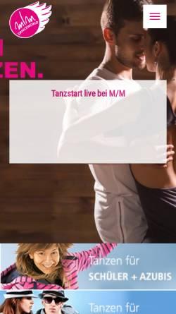 Vorschau der mobilen Webseite www.mm-dance.de, m/m Danceworld Tanzschule
