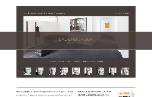Vorschau von www.ladenburger.com, Ladenburger, Neifeind, Schmücker & Homann