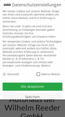 Autohaus Wilhelm Reeder Gmbh Kraftfahrzeuge Wirtschaftsdienste