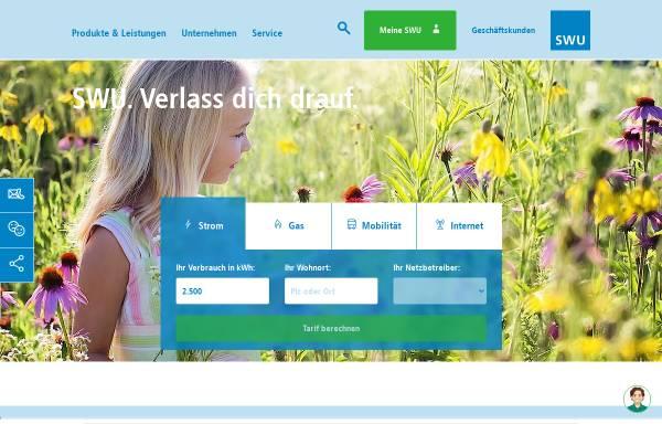 Vorschau von www.swu.de, SWU Stadtwerke Ulm/Neu-Ulm GmbH