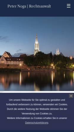 Vorschau der mobilen Webseite www.rechtsanwalt-noga.de, Noga, Peter, Rechtsanwalt