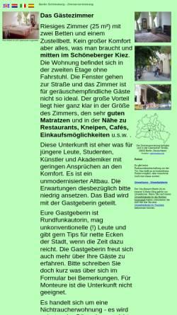 Vorschau der mobilen Webseite www.bandb-ring.de, Gästezimmer Berlin Schöneberg