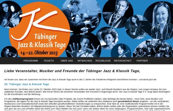 Vorschau von www.jazzklassiktage.de, Tübinger Jazz & Klassik Tage