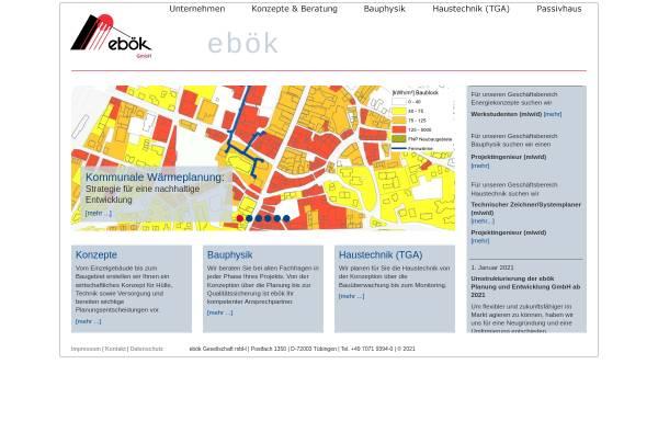 Vorschau von www.eboek.de, ebök Ingenieurbüro für Energieberatung, Haustechnik und ökologische Konzepte GbR
