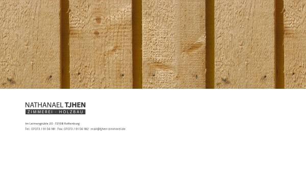 Vorschau von www.zimmerei-der-region.de, Zimmerei und Holzbau - Nathanael Tjhen