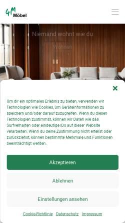 3fe38153482776 ... Vorschau der mobilen Webseite www.4m-moebel.de