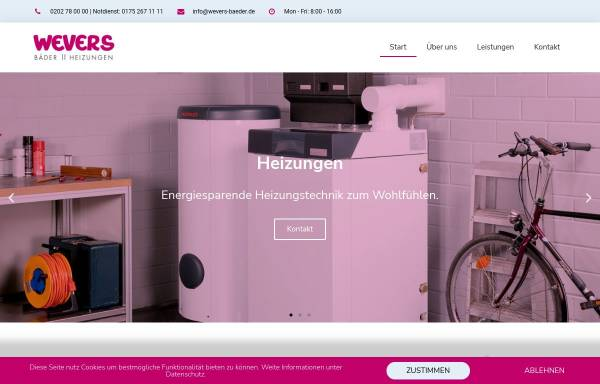 Vorschau von www.wevers-baeder.de, Walter Wevers GmbH