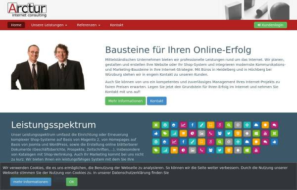 Vorschau von www.arctur.de, Arctur Internet Consulting