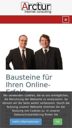 Vorschau der mobilen Webseite www.arctur.de, Arctur Internet Consulting