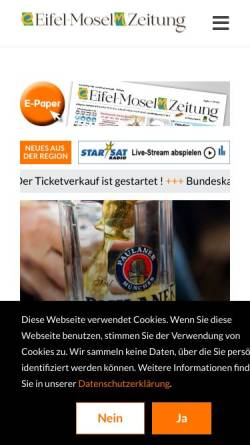 Vorschau der mobilen Webseite www.eifelzeitung.de, Eifel-Zeitung