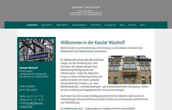 Vorschau von kanzlei-wuesthoff.de, Kanzlei Hartmut Wüsthoff