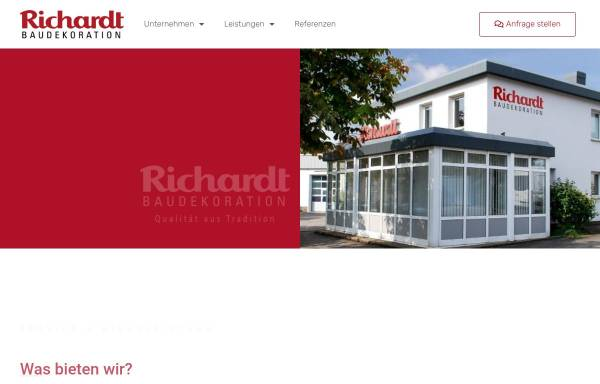 Vorschau von www.baudekoration-richardt.de, Baudekoration Richardt GmbH & Co. KG