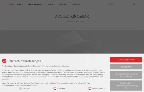 Vorschau von www.apollo-aachen.de, Apollo Kino & Bar