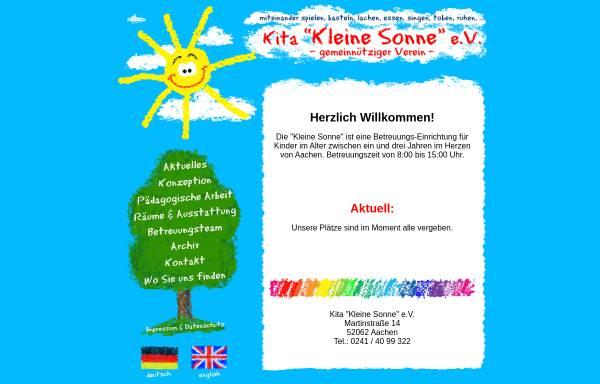 Vorschau von www.kita-kleine-sonne.de, Kinderkrippe