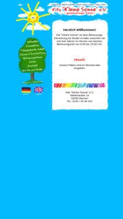 Vorschau der mobilen Webseite www.kita-kleine-sonne.de, Kinderkrippe