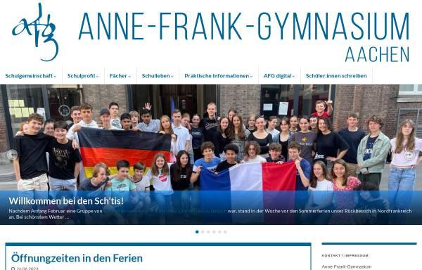 Vorschau von www.anne-frank-gymnasium.de, Anne-Frank-Gymnasium (AFG)