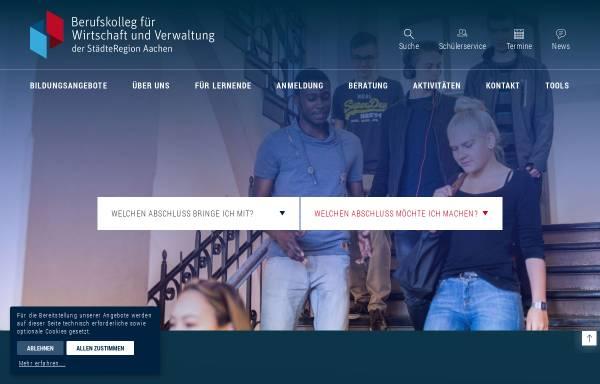 Vorschau von bwv-aachen.de, Berufskolleg für Wirtschaft und Verwaltung