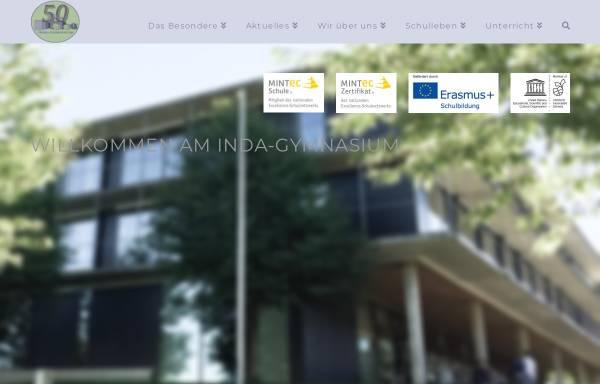 Vorschau von www.inda-gymnasium.de, Inda-Gymnasium Aachen