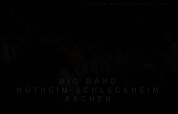 Vorschau von www.bigband-aachen.de, Big Band Nütheim-Schleckheim Bad Aachen e.V.