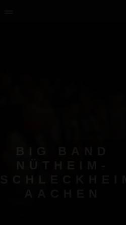 Vorschau der mobilen Webseite www.bigband-aachen.de, Big Band Nütheim-Schleckheim Bad Aachen e.V.