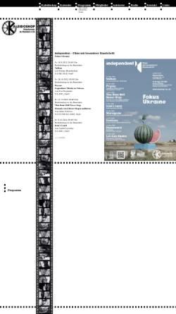 Vorschau der mobilen Webseite www.kaleidoskop-ac.de, Kaleidoskop Filmforum in Aachen e.V.