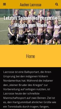 Vorschau der mobilen Webseite www.laix.de, Lacrosse Club Aachen