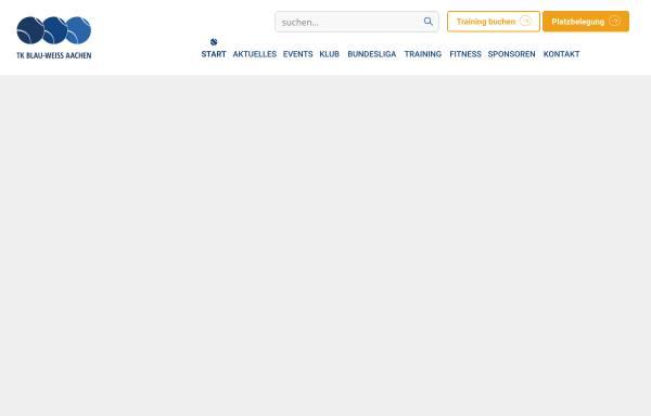Vorschau von www.blau-weiss-aachen.de, Tennis-Klub Blau-Weiss Aachen 1962 e.V.
