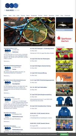 Vorschau der mobilen Webseite www.blau-weiss-aachen.de, Tennis-Klub Blau-Weiss Aachen 1962 e.V.
