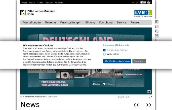 Vorschau von www.landesmuseum-bonn.lvr.de, Rheinisches Landesmuseum Bonn
