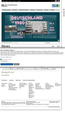 Vorschau der mobilen Webseite www.landesmuseum-bonn.lvr.de, Rheinisches Landesmuseum Bonn