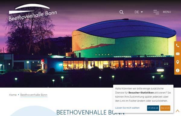 Vorschau von www.beethovenhalle.de, Beethovenhalle Bonn