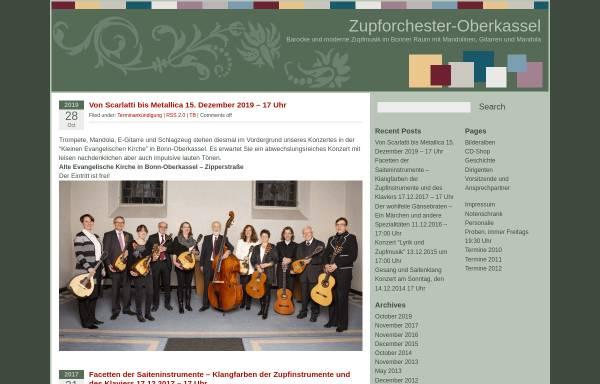 Vorschau von www.zupforchester-oberkassel.de, Zupforchester Bonn-Oberkassel 1921 e.V.
