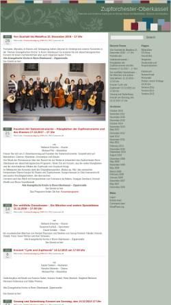 Vorschau der mobilen Webseite www.zupforchester-oberkassel.de, Zupforchester Bonn-Oberkassel 1921 e.V.