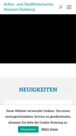 Vorschau der mobilen Webseite stadtmuseum-duisburg.de, Kultur- und Stadthistorsches Museum Duisburg