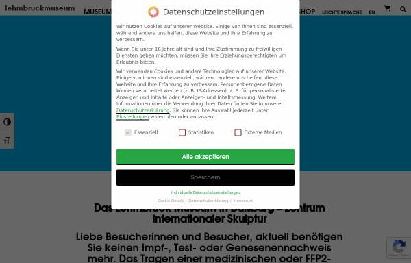 Vorschau von www.lehmbruckmuseum.de, Stiftung Wilhelm Lehmbruck Museum