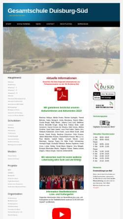 Vorschau der mobilen Webseite www.ge-duisburg-sued.de, Gesamtschule Duisburg-Süd