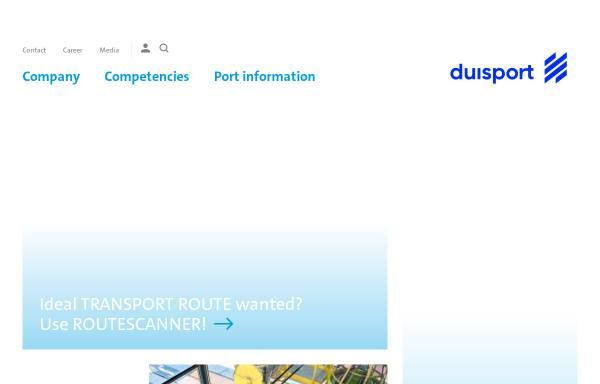 Vorschau von www.duisport.de, Duisburger Hafen AG - Duisport